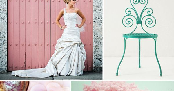 Turquoise and pink wedding - color scheme of my wedding