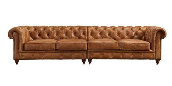 Top Grain Vintage Leather Large 4 Sitter Chesterfield Sofa Etsy In 2020 Leather Sofa Living Room Italian Leather Sofa Vintage Leather Chesterfield Sofa