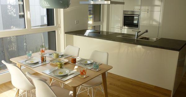 une cuisine au style n o vintage scandinave pour meubler un appartement t moin de 100 m dans la. Black Bedroom Furniture Sets. Home Design Ideas