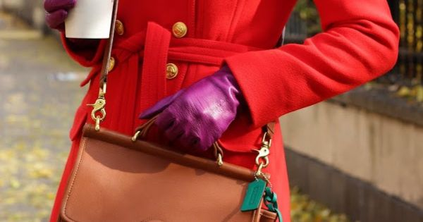 Red coats are both classy, and make a statement. This one is