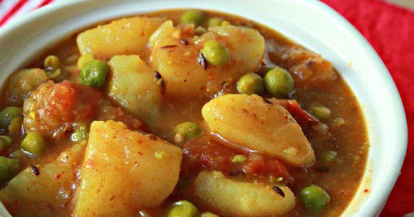 Potato Peas Curry (Aloo Matar) + other great Indian recipes