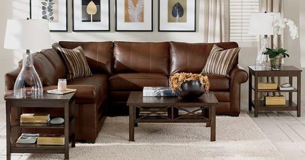 Ethan Allen Furniture Interior Design ~ Ethanallen explorer tropical leather living room
