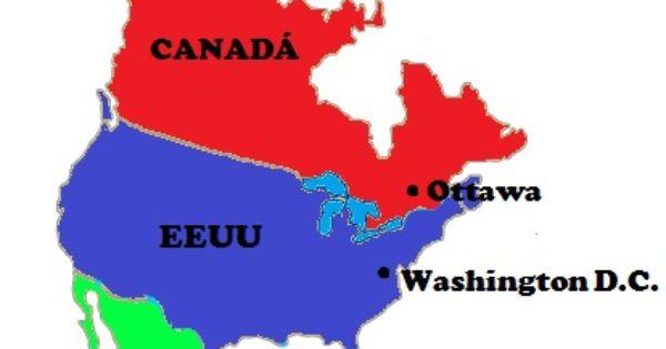 Países Y Capitales De América Del Norte Saber Es Práctico America Paises Y Capitales Mapa De America Del Sur Mapa De America