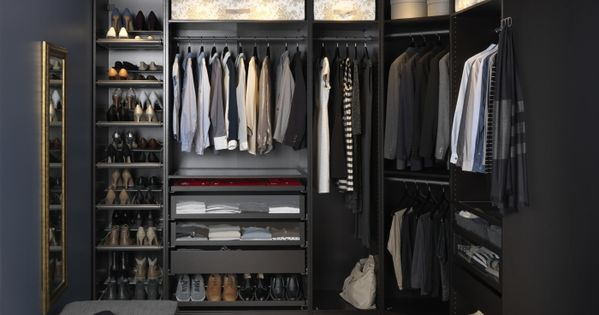 Having an organized closet makes getting ready in the for Dessiner dressing ikea