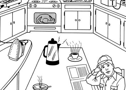 Fire Safety Coloring Pages | Kinder | Pinterest | Fire ...