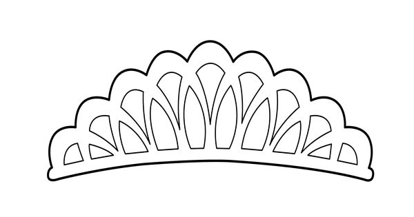 Tiara coloring page for girls