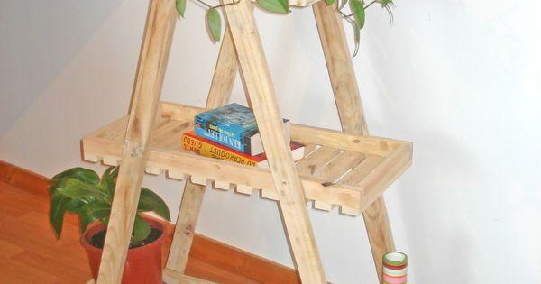 etag re style escabeau fabriqu e en bois de palette diy deco pinterest. Black Bedroom Furniture Sets. Home Design Ideas