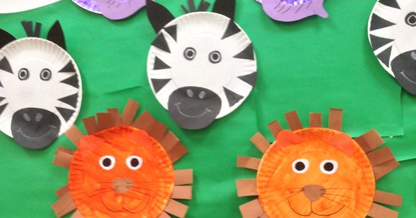 Lions And Zebras And Elephants Oh My Paper Plate Jungle