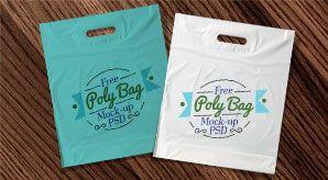 Download Free Plastic Poly Bag Mock Up Psd Bag Mockup Poly Bags Bags