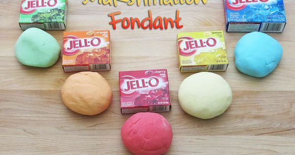 Jello marshmallow fondant. Perfect for Donovan for cake decorating 4H