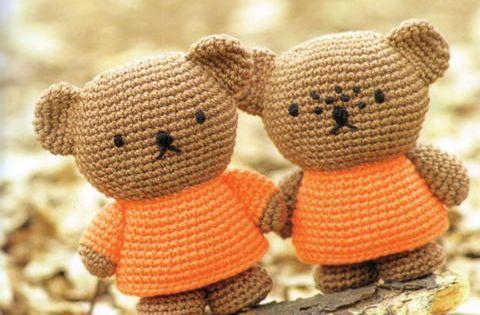 Crochet Pattern Notation : Amigurumi Boris and Barbara Bear from Miffy - Free Crochet ...