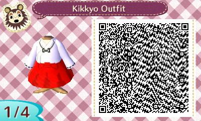 Kikyo S Outfit Animal Crossing Qr Qr Codes Animal Crossing