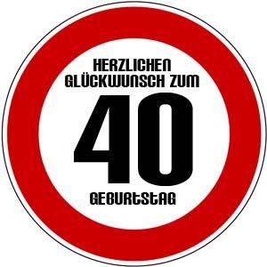 Spruche zum 40 geburtstag gratis