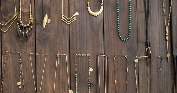 Love these boho necklaces--Jewelry from the collection of Marisa Haskell as seen