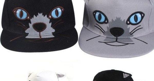 d2e150a2ef1 CAT Snapback Kids Bboy Men Woman Hats Adjustable Flower Fashion Cap Style S-032   Cat  LovelyCatStyle