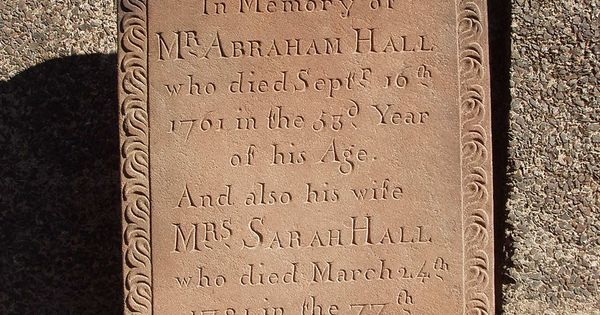 Mr abraham hall who died sept th age sarah his