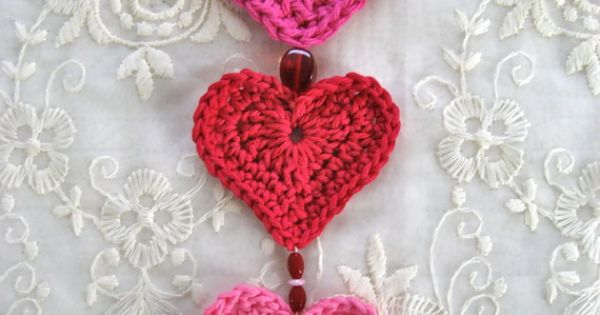 Valentine's Day – Crochet Heart for Footless sandals