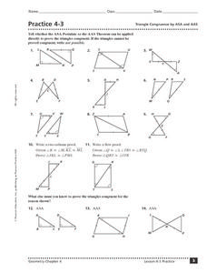 Practice 4 3 Triangle Congruence By Asa And Aas 9th 11th ...