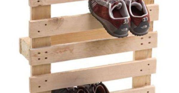 Pallet Shoe holder, shoe stand, diy shoe, diy shoe storage, shoes