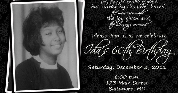 60th Birthday Invite Wording Samples Surprise 60th Birthday Party 60th Birthday Invitations 60th Birthday Party Invitations Birthday Party Invitation Wording