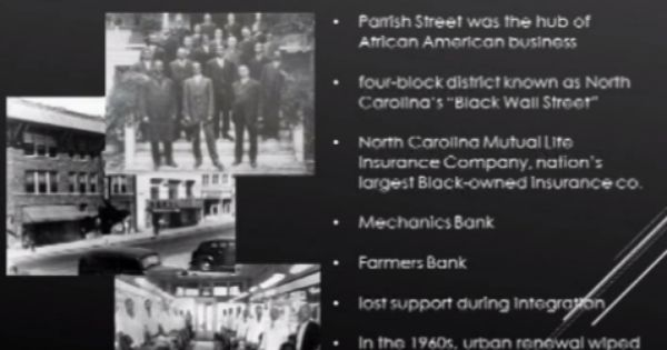 1906 Durham Nc Black Wall Street Buyblack Black Wall Street