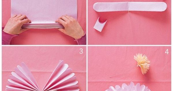 DIY Tissue Pom Poms for party decoration
