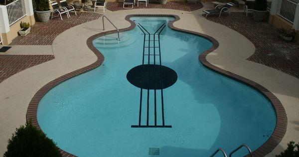 Ingenious Pool Shaped Like A Guitar Havuzlar Pools Pinterest Pool Shapes Swimming Pools
