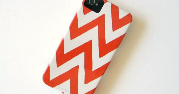 Chevron ORANGE IPhone 4/4s case Pattern Geometric Arrows Modern Tribal iphone case