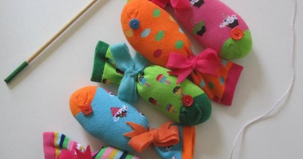 sock fish game (magnets stuffed in near the mouth). Great idea for