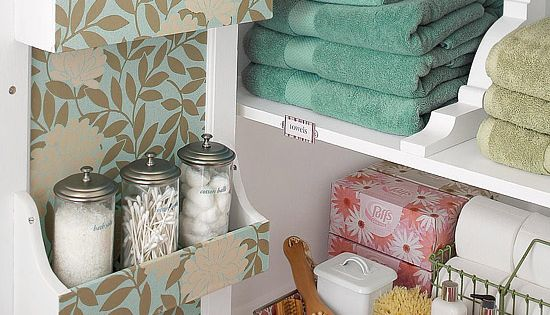 Like the racks on the inside of the door Bathroom Storage Ideas