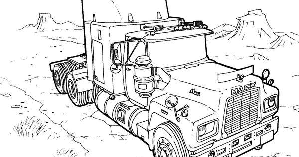 mack trucks  coloring for kids and trucks on pinterest
