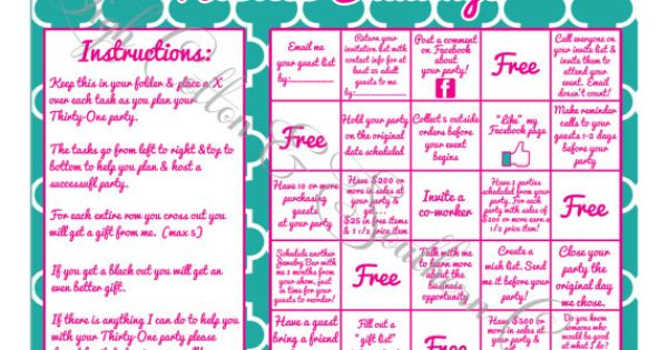 Hostess Challenge Game inspired by Origami Owl on Etsy, $8.00