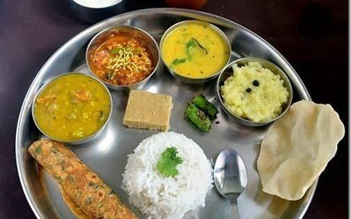Chitra 39 s food book gujarati thali dal sev tamatar curry for Awadhi cuisine book