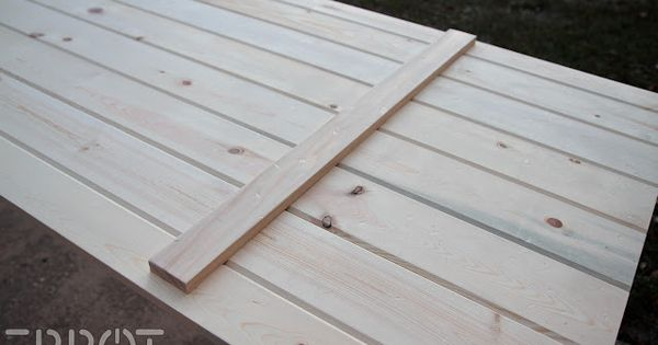 Diy Sliding Barn Door Using Exterior Tongue And Groove Boards Epbot Make Your Own Sliding Barn
