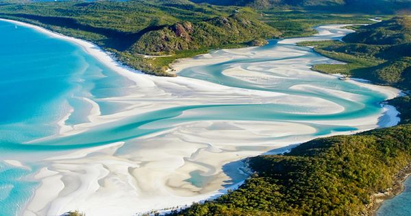 Whitehaven Beach, Whitsunday Islands, Australia ravenectar earth planet beautiful places travel place