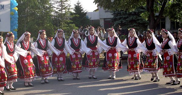 bulgarian traditional dancing elhovo bulgaria