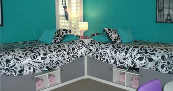 Love the idea but not the color. Teen Girl Bedroom Decor Ideas