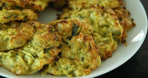 Zucchini fritters, Fritters and Zucchini on Pinterest