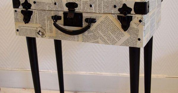 voici comment redonner une seconde vie une ancienne valise en carton elle tout d 39 abord t. Black Bedroom Furniture Sets. Home Design Ideas