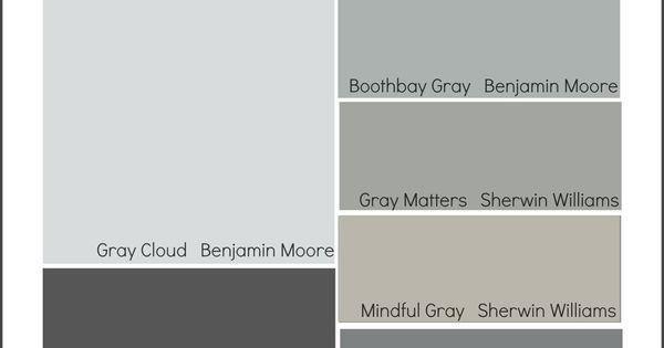 mindful gray? Collection of some of the most popular gray paint colors