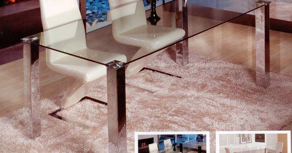 Mesa de comedor redonda de cristal con pata central de - Cristales para mesas redondas ...
