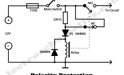 polarity protection circuit schematic