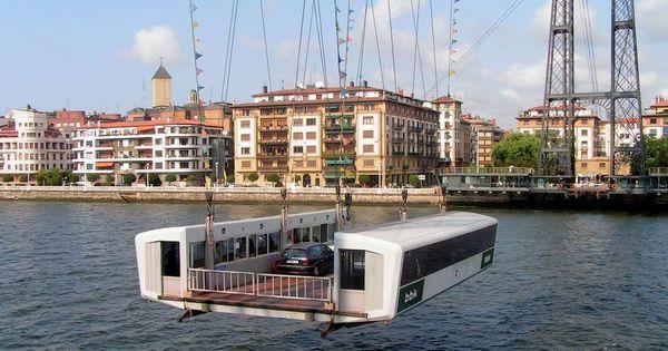 Puente colgante de portugalete en la r a de bilbao for El jardin portugalete