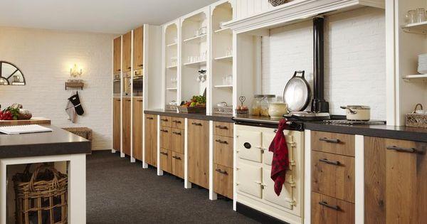 Geweldige massief houten keuken van gerard hempen combi strak en landelijk met warme 3 oven aga - Redo keuken houten ...