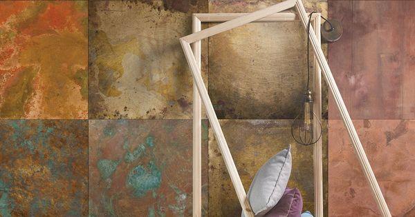 Bronze copper metal wallpaper from milton king for Studium innendesign