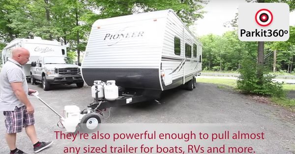 rv trailer electric powered trailer dolly  trailer mover for boat or rv camper  p360sd 5000lbs
