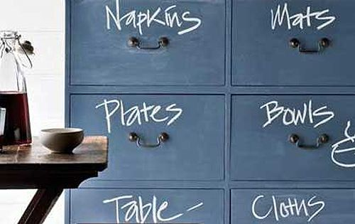 DIY Fun Furniture Trends...paint an old dresser with colored chalkboard paint and