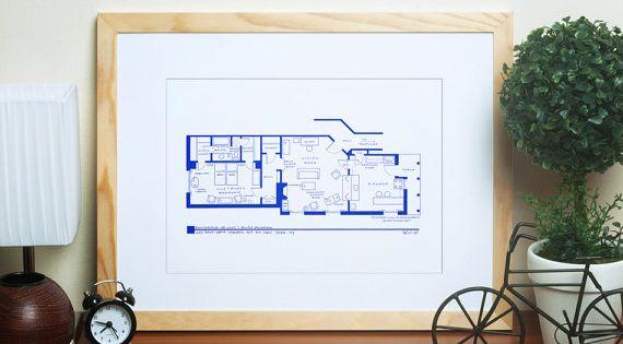 TV Show Apartment Floor Plan
