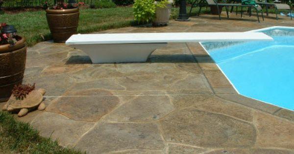 Stamped Concrete Overlays Concrete Pool Concrete Patio Backyard Pool