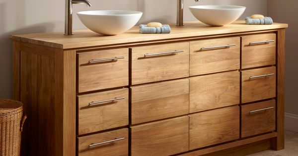Double Sink Bathroom Teak And Medicine Cabinets On Pinterest
